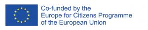 """Co-funded by the Europe for Cirtizens programme of the European Union"""" or """"With the support of the Europe for Cirtizens programme of the European Union."""